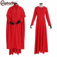Cosplaydiy The Handmaid's Tale Cosplay June Osborne Offred Costume Long Dresses Cloak Women Red Dress Halloween Custom Made