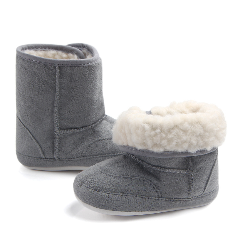 Winter Warm Booties Shoes For Girls Cotton Solid Baby Boy Shoes Footwear For Newborns Babies Toddler Infant Shoes