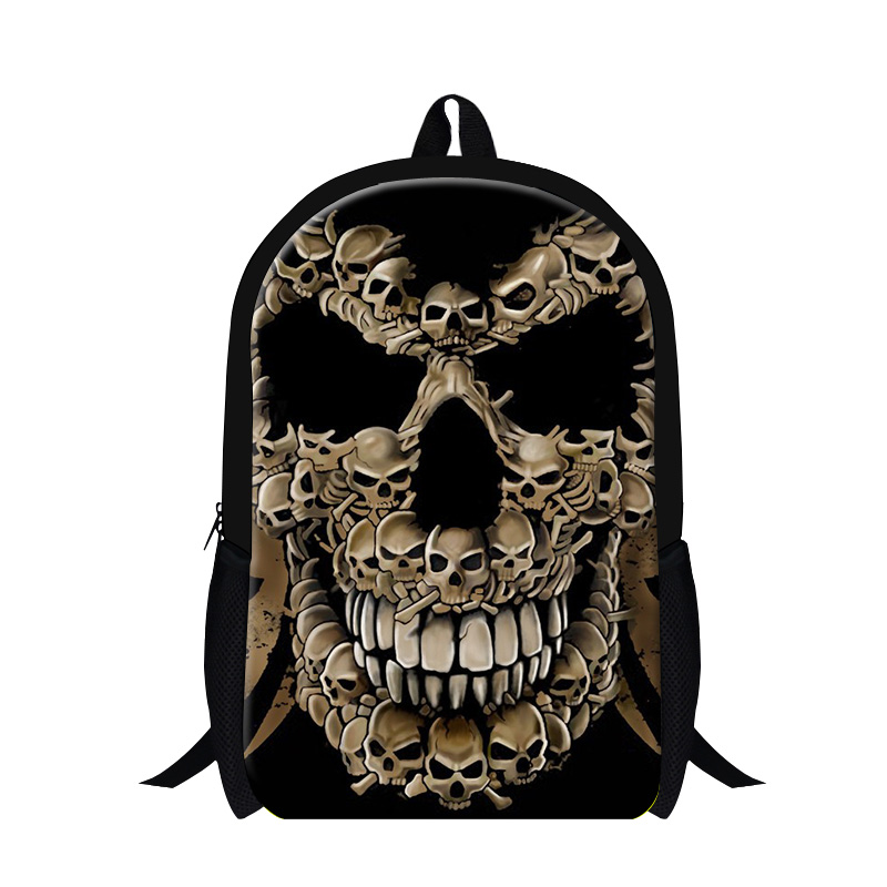 Skull ultralight backpacks for Teenagers Cool school back packs for high school students girls fashion bookbags youth mochilas ...