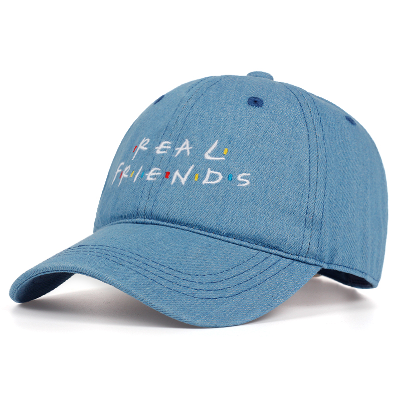 2019 new REAL FRIENDS letter embroidery   cap   cotton% fasihon   baseball     caps   men women Leisure hats summer outdoor dad hat