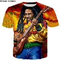 PLstar Cosmos Drop verschiffen Reggae Hip hop t-shirt Bob Marley zeichen Druck 3d Männer/Frauen t-shirt sommer stil casual T-shirt