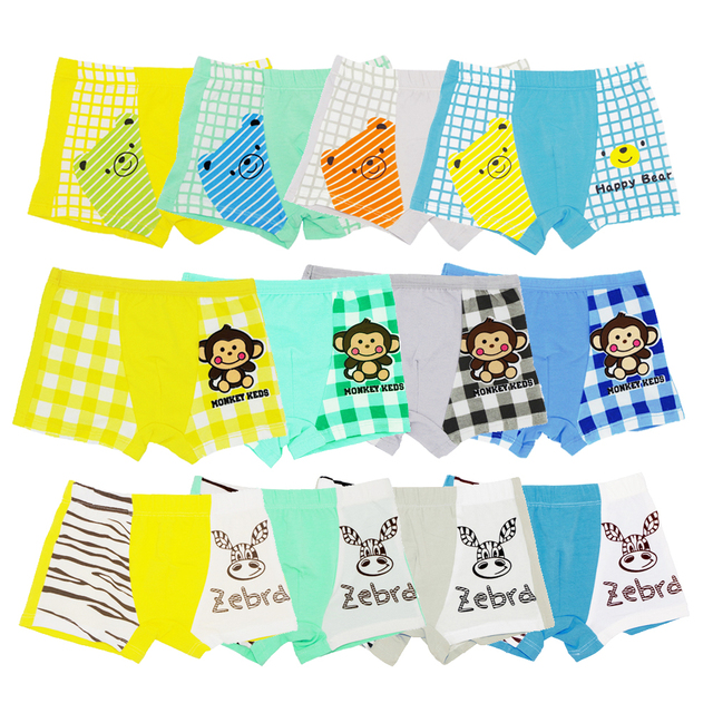 ef9f623b75 US $15.19 47% OFF|12Pcs/Pack Four Seasons 100% Cotton Children Underwear  Baby Boys Girls Boxer Shorts Cartoon Boy Girl Underpants Kids Pants 1  16Y-in ...