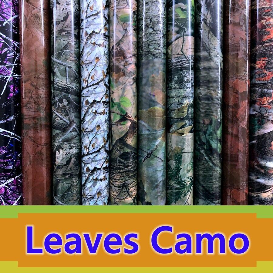 50cm Wide Leaves Camouflage Hydrogarphic Film Water Transfer Printing Film Aqua Print Film Decorative Material For Car&Motor