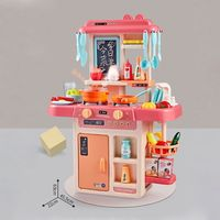 42Pcs/Set Simulation Kitchen Toy Spray Water Dinnerware Children's Toys Cooking Table Set
