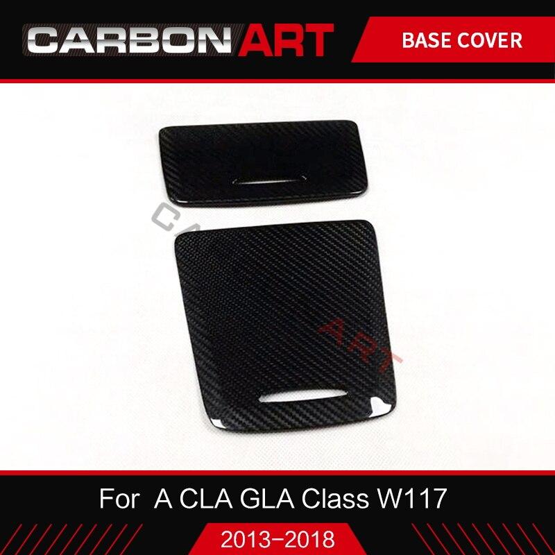 W117 W176 X156 boîte de rangement intérieure de voiture en fibre de carbone pour Mercedes CLA GLA A classe A180 couvercle de cendrier retournement garniture de porte 2013 +