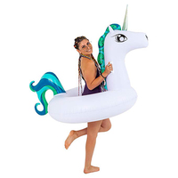 2019 Newest Unicorn Inflatable Tube Swimming Ring Pool Float For Adult Children Summer Floats Water Party Toys Air Mattress boia