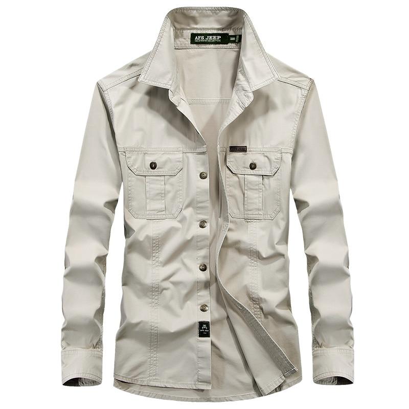 Buy brand clothing shirt men long sleeve for Mens military style long sleeve shirts