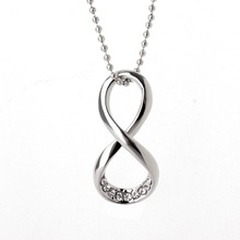 Number 8 Endless Necklace & Pendant For Women Forever Eternal Friendship Infinity Fashion Jewelry
