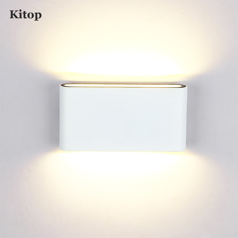 high quality outdoor waterproof up and down lighting wall lamps led spot wall light sconces 6w Kitop Outdoor LED Wall light Lamp Waterproof 6W 12W AC85-265V COB Led Sconces Modern Home Lighting Indoor Outdoor Decoration