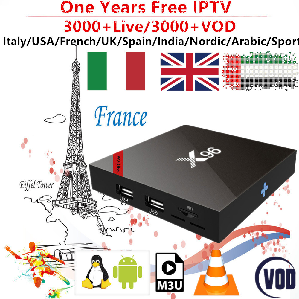 Stable French IPTV Box 1 Year Subscription With Europe Spain Portugal Nordic For Android TV Box M3U Smart Tv 3000 Live Channes цена