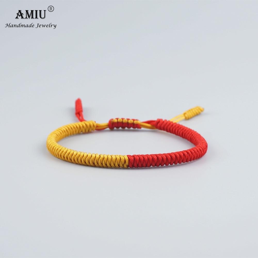 AMIU Tibetan Jewelry Buddhist Lucky Charm Tibetan Bracelets & Bangles For Women Men Handmade Knots Rope Bracelet Christmas Gift