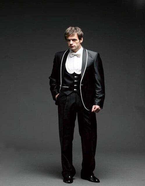 2018 New Design Slim Modern Custom Made Tuxedos Groomsman Suit ...