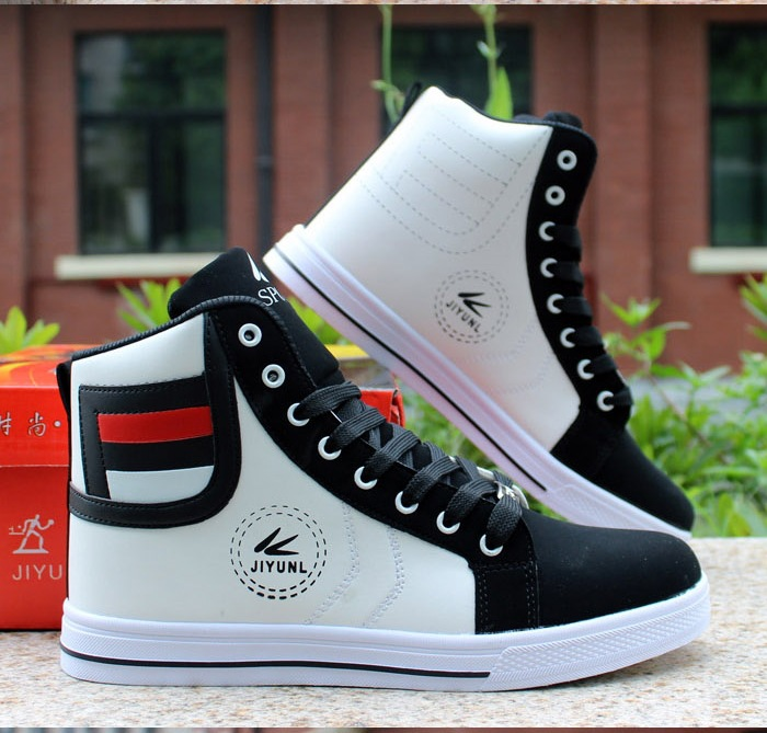 HTB11xQ0Xc vK1RkSmRyq6xwupXae - HUANQIU Brand Men Shoes 2018 Spring Fashion Boots Shoes Man High Top Shoes Men Lace Up Casual Shoe Chaussure Plus size 45 ZLL434