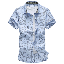 2018 New Fashion Casual Shirts Mens Summer Irregular Pattern