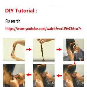 Image 5 - Cabello humano Afro rizado a granel, 3 o 4 mechones, Remy, mongol, Afro, rizado a granel, 50 gramos/Unid, pelo rizado, Crochet para trenzado Styleicon