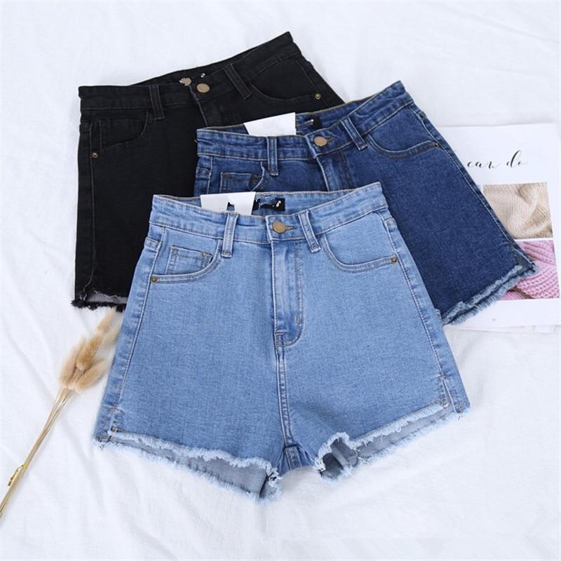b4 Summer Fashion New Denim Women s Shorts Women Wholesale Shreds Slim Slim Joker byc65