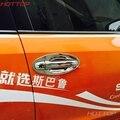 Para Subaru XV Tampa Alça Acessórios Do Carro ABS Chrome Design Maçaneta da porta Tigela Inserir Tampa 2011 2012 2013 2014 2015 2016