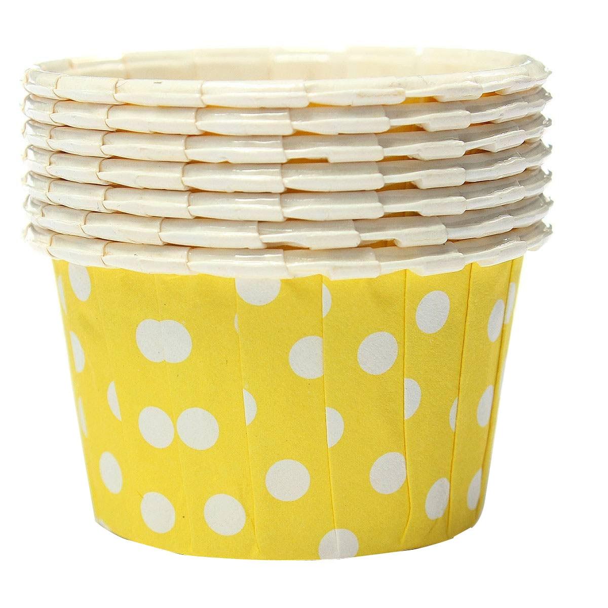 FJS!100X Cupcake per Paper Cake Case Baking Cups Liner Muffin Yellow