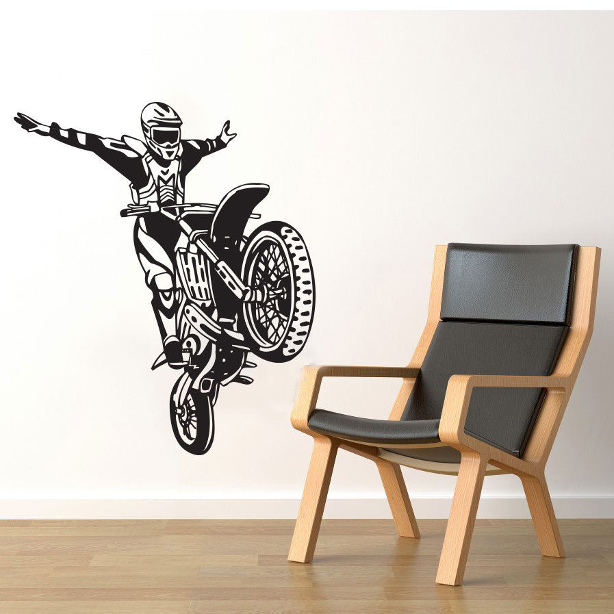 Dirt Cheap Home Decor: Free Shipping New Dirt Bike Motorcycle Motocross Stunt