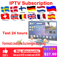 IPTV subscription Android TV Box + European Sweden Arabic French Spain France Belgium Italy Germany UK IPTV for smart tv box