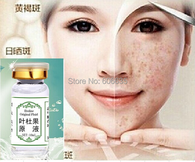 Free ship Sker leaf fruit reckle Dark Spots Removal Cream Clean Pigment Face Whitening  Speckle Blemish beauty whitening essence