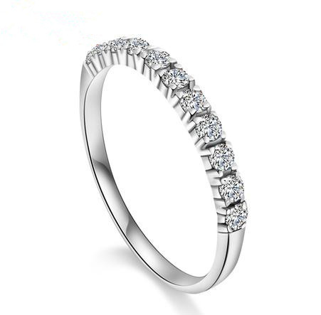 2017 new arrival super shiny zircon & 925 sterling silver female wedding finger rings ladies` jewelry wholesale drop shipping