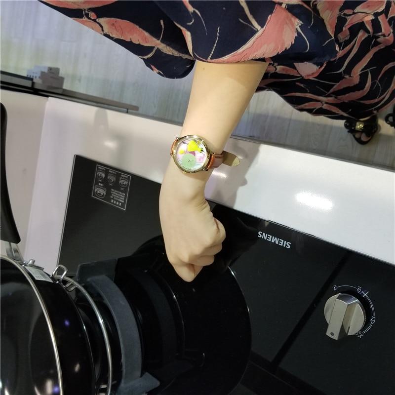 Orz Miss Keke 3d Clay Cute Yellow Feestjurken Horloges Relogio - Dameshorloges - Foto 3