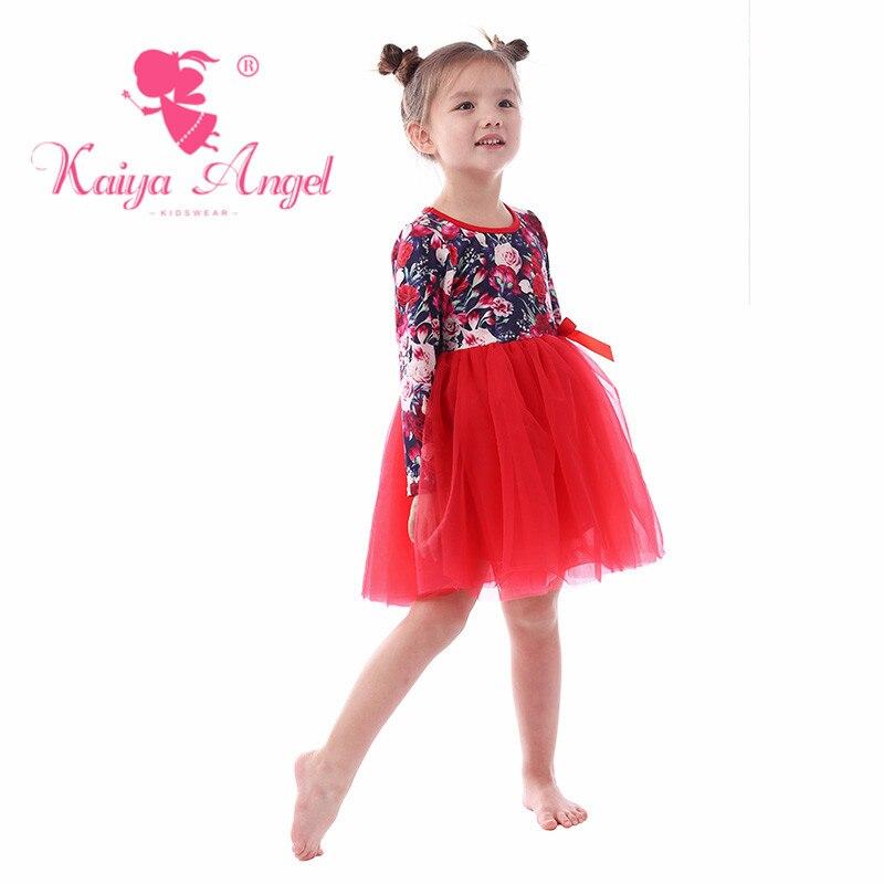 def3e417b563 Kaiya Angel Valentine's Day Peony Red Gauze Bow Toddler Girl Summer Clothes  Princess Dress Spring Fashion Baby Pirncess Clothes