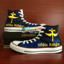 Converse All Star Women Men Shoes Anime Code Geass Knight Design Hand Painted Custom High Top Sneakers