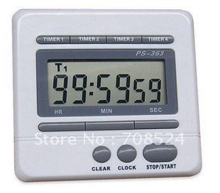 Free shipping,Hot sell! Digital Timer, 4 Groups Timer, Countdown Function , Price/piece