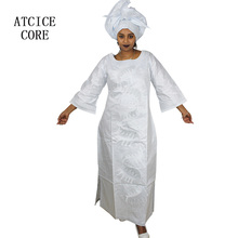 African long dress with scarf