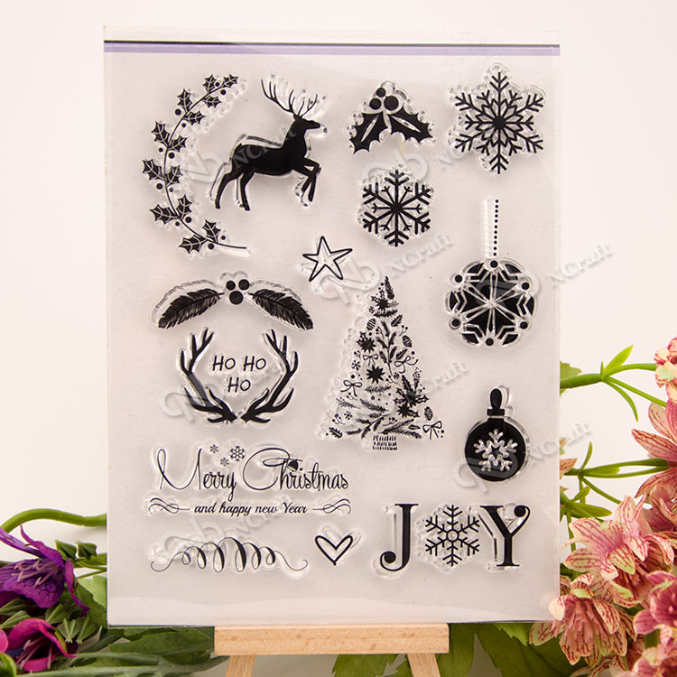 The Christmas Clear Silicone Stamp for DIY scrapbooking/photo album Decorative craft angel and trees clear stamp variety of styles clear stamp for diy scrapbooking photo album wedding gift ll 163