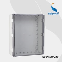 600*400*220 Clear Cover/Lid Waterproof Enclosures for Electronics With Lock PC Material Plastic Enclosure Lock SP-PCT-604022