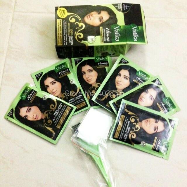 Free Shippping Dabur Vatika Henna Hair Dye Powder Natural Black
