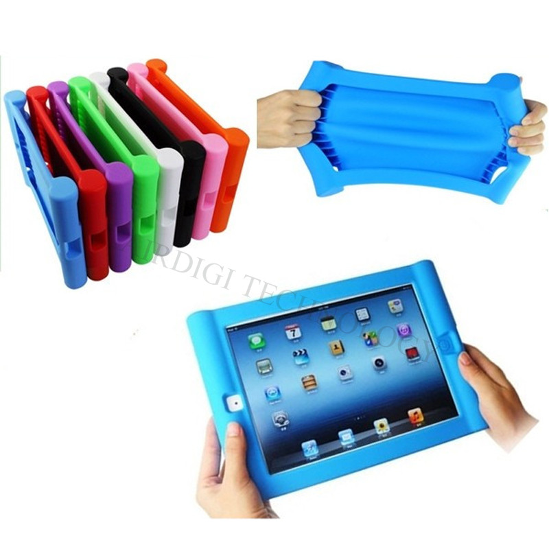Støtbeskyttet Beskyttelsesveske til Apple iPad 2/3/4 Silikon Drop Proof Case Deksel for Home Children Kids med gratis frakt