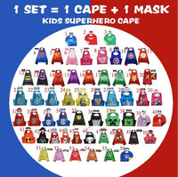 50 kids font b superhero b font capes double sides satin fabric super hero cape mask.jpg 200x200