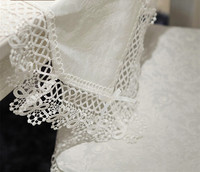 Multi Sizes White Elegant Embroidered European Pastoral Lace Tableclothpastoral Style Tea Table Cloth Table Runners