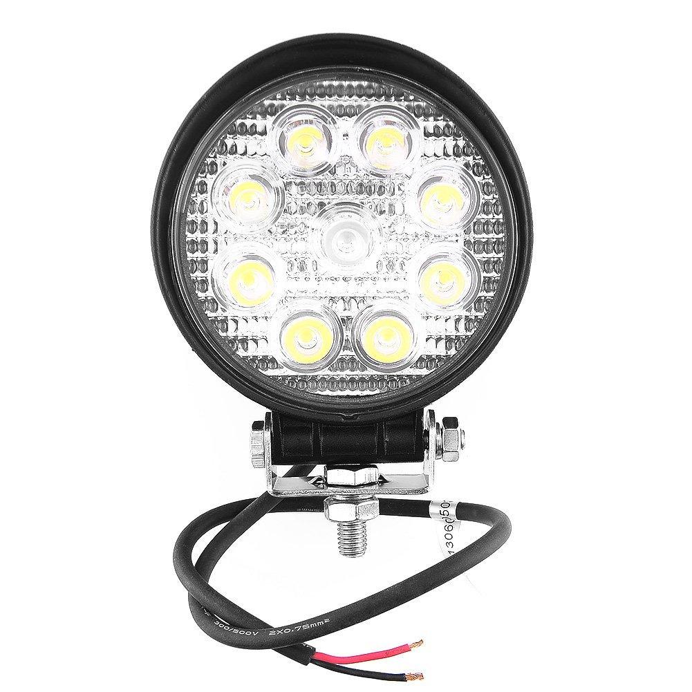 Work Lamp DC 12V 27W 9 LEDs 6000k Led Headlamp Working Light Headlights Car Fog Moto White Lamp Spotlight