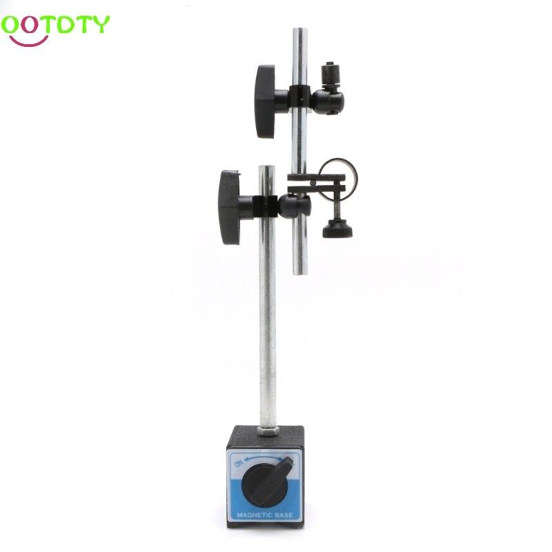 Magnetic Base Holder With Double Adjustable Pole For Dial Indicator Test Gauge  828 Promotion  dsha new hot flexible magnetic base holder stand scale precision dial test indicator gauge