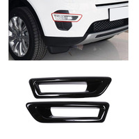 2 pcs Gloss Black Front Fog Light Lamp Cover Trim For Land Rover Discovery Sport 2015 2018 Car Accessories
