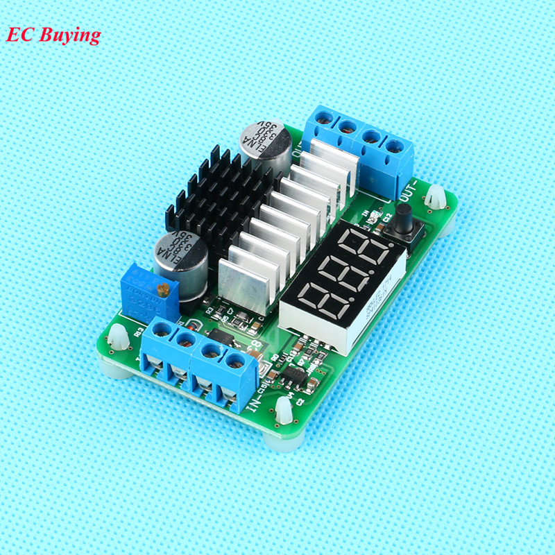 LTC1871 DC-DC Step-Up Power Supply Module Boost Converter Board Adjustable High LED Voltage Meter/Button Switch