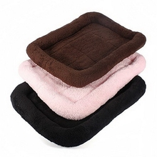 Free shipping Small Size Pet Dog Cat Nest Bed Mat Pad Blanket Warmer Pashm Cozy Brown