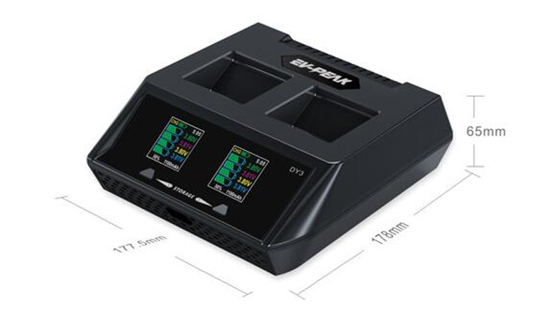 DY3 ل YUNEEC H480 الاعصار H البطارية عن بعد تحكم 2in1 يبو شاحن 70 واط 6Ax2 LiHV شاحن بطارية w/USB تهمة سريع آمن-في قطع غيار وملحقات من الألعاب والهوايات على  مجموعة 1
