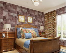 купить beibehang papel de parede New Chinese Classic Brick 3d Wallpaper mottled retro washable PVC living room background wall paper по цене 2296.53 рублей