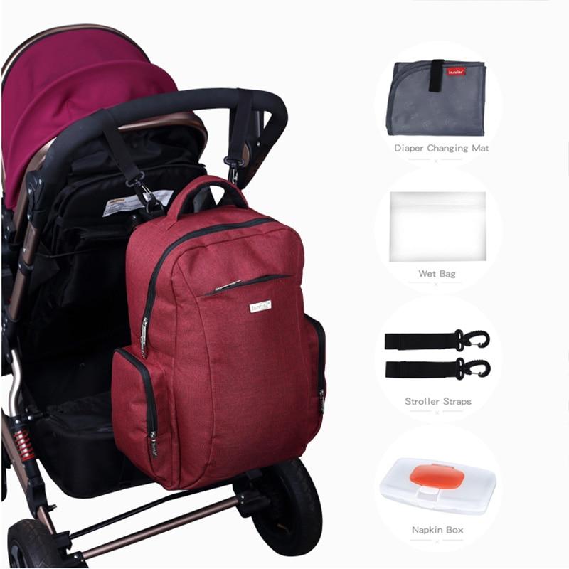 Marca Insular bolso de pañales de bebé maternidad mochila estilo de - Pañales y entrenamiento para ir al baño - foto 2