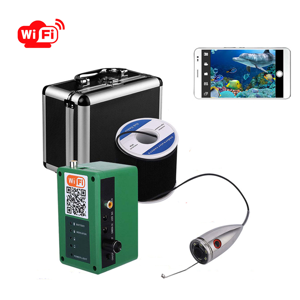1000TVL Wifi Underwater Fishing Camera Video Recording HD Waterproof Fish Finder 15/20/30/50M Cable Under Water Fishfinder Camer
