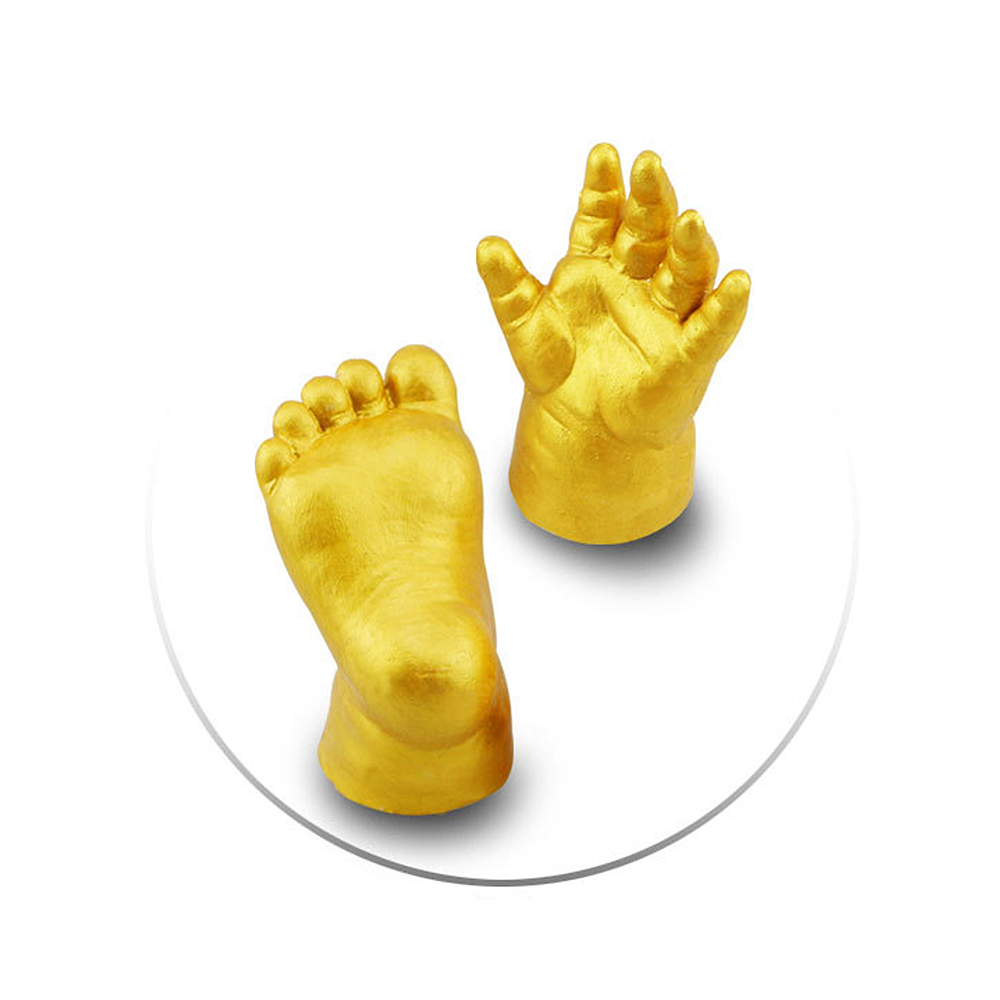 3D Baby Handprint Footprint Mold Hand & Foot Print For Baby Powder Plaster Casting Kit Keepsake Gift Baby Growth Memorial