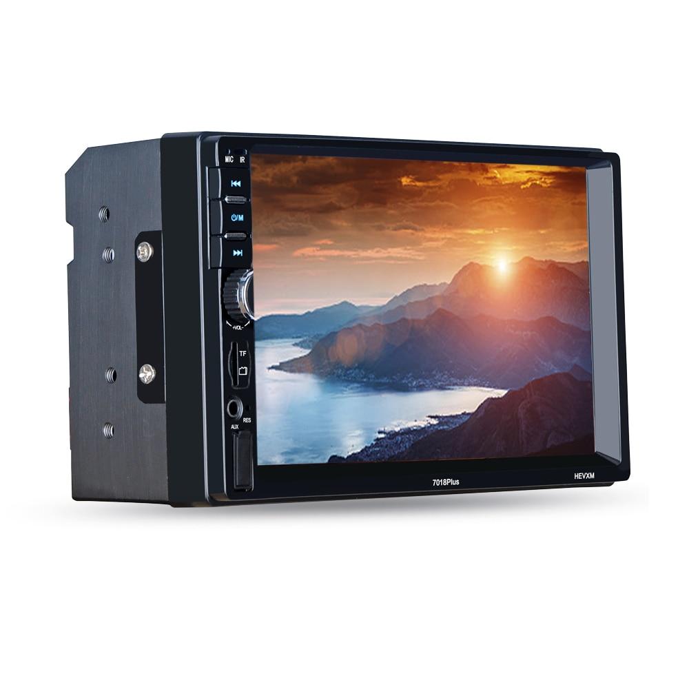 Autoradio Cassette Recorder Car MP5 Media Player 7018 PLUS Auto 2 Din Radio Video Player USB/TF Interface Rear Camera Input