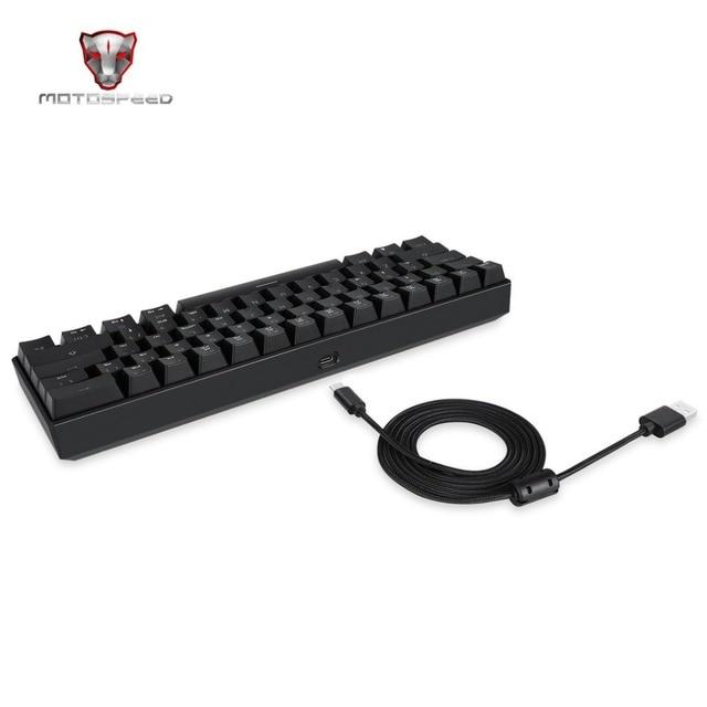 Motospeed 61 Keys Mechanical Keyboard RGB LED Backlight Wired Gaming Keyboard for PC Desktop Tablets Hot Sale Free Drop Shipping