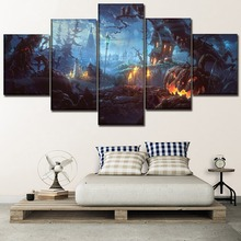 Canvas Painting Wall Art Framework 5 Piece Holiday Halloween Poster HD Printing Type Pictures Modern Home Decorative Artwork